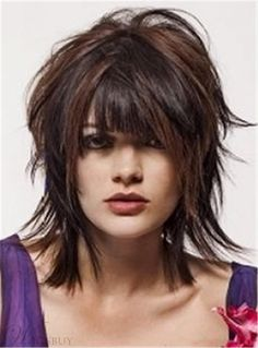 Here are 30 short shaggy haircuts, from Short-Haircuts: Looking for a sexy short haircut with tons of appeal? Then you should try out one of many shag hairstyles. Modern shag haircuts add your look a stylish edgy twist moving your hairstyles to the next l Medium Shag Hairstyles, Short Shaggy Haircuts, Shaggy Short Hair, Haircuts For Fine Hair, Short Hair Cuts, Shaggy Bob, Hair Shag, Long Shag, Bob Hairstyles