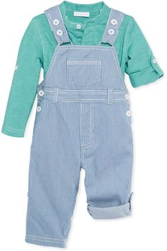 First Impressions Baby Boys' 2-Piece Shirt & Overalls Set Original price: $38.50 - Sale price: $7.70