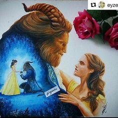 """But then, she's never looked at me that way before."" 54 days!#beautyandthebeast #batb #disney #emmawatson #danstevens #lukeevans #joshgad #ewanmcgregor #emmathompson #ianmckellen #gugumbatharaw #audramcdonald #stanleytucci #kevinkline #billcondon #beautyandthebeast2017 #taleasoldastime #beourguest #beautyisfoundwithin .... #Repost @eyzedim with @repostapp ・・・ Double exposure of #beautyandthebeast"