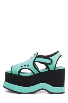 619638c7149 Jeffrey Campbell Shoes CELSIUS-ZP in Turquoise Black Neo Combo Jeffrey  Campbell
