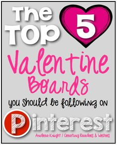 These are my TOP 5 picks for amazing Valentine boards on Pinterest... so many fun ideas for planning a fun day!