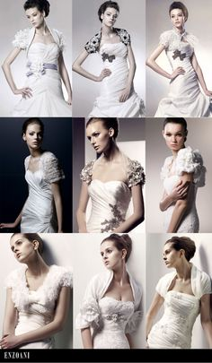 Pretty wraps, shrugs and jackets from Enzoani. #wedding #bridal