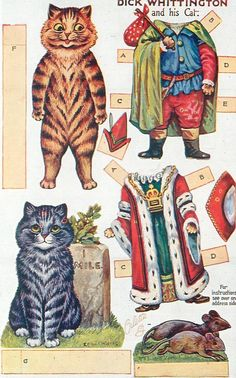 DICK WHITTINGTON AND HIS CAT.  Is this Louis Wain illus.?