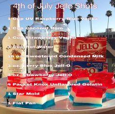 4th of July Jello Shots