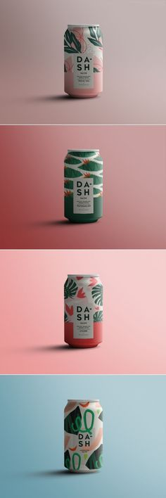 ★ Design // Packaging ★ Dash flavored sparkling water package design by Kamil Kmiecik Food Packaging Design, Packaging Design Inspiration, Brand Packaging, Graphic Design Branding, Label Design, Package Design, Identity Design, Design Design, Water Packaging