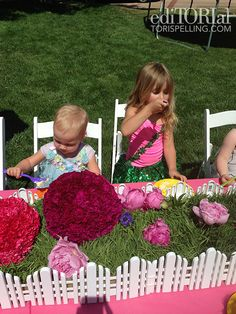 Tori Spelling - All the details at her daughter's party are fabulous.  But I REALLY want this fence centerpiece!!!