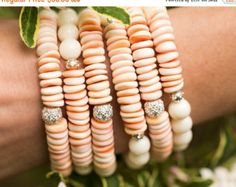 NEW YEAR SALE Stack Bracelets Clover by AlisonStorryJewelry