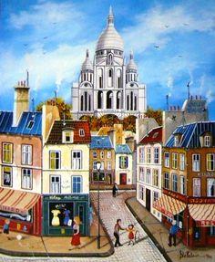 Leap Movie, Monuments, Urban Sketching, Naive Art, Illustrations, Painting Inspiration, Paris France, Folk Art, Abstract