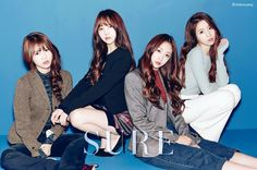 Lovelyz Mijoo, Kei, Jisoo and Jin for Sure Magazine