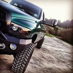 Gorgeous Lifted Green Cummins Diesel Dodge