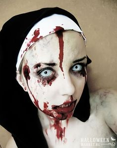 #nun #makeup #costume #halloweenmarket #halloween  #костюм #монашка #образ #страх Страшная монашка на хэллоуин (фото) Ещё фото http://halloweenmarket.ru/%d1%81%d1%82%d1%80%d0%b0%d1%88%d0%bd%d0%b0%d1%8f-%d0%bc%d0%be%d0%bd%d0%b0%d1%88%d0%ba%d0%b0-%d0%bd%d0%b0-%d1%85%d1%8d%d0%bb%d0%bb%d0%be%d1%83%d0%b8%d0%bd-%d1%84%d0%be%d1%82%d0%be/