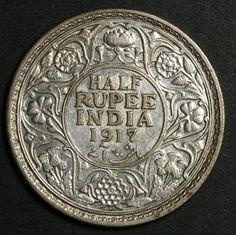 1917 Half Rupee India