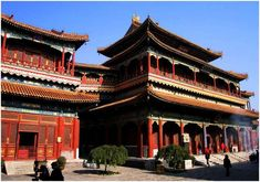 Beijing Yonghe Lamasery photos tour - enjoy the high-definition and impressive photos and pictures of Yonghe Lama Temple Beijing. China Today, Temple Of Heaven, Summer Palace, Chinese Architecture, Buddhist Architecture, China Travel, Laos Travel, Beach Travel, Great Wall Of China