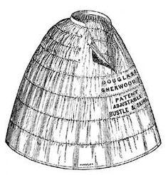 DOUGLAS & SHERWOOD'S PATENT ADJUSTABLE BUSTLE AND SKIRT - 1858