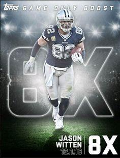 Topps Huddle 2017 Jason Witten Game Only Boost 8X Vikings Vs Cowboys Week 13 Thu