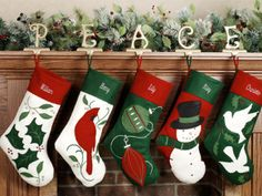 decorative christmas stockings | A Home Like No Other