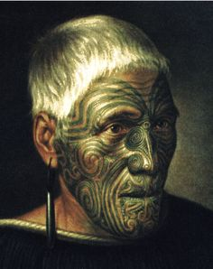 Tattoo History - Images of Maori / New Zealand Tattoos - History of Tattoos and Tattooing Worldwide Maori Tattoos, Ta Moko Tattoo, Maori Tattoo Designs, Face Tattoos, Polynesian Tattoos, Tattoo Ink, Real Tattoo, Samoan Tattoo, Arm Tattoo