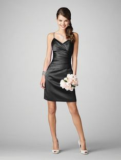black bridesmaid dress...maybe in pink or purple!(: