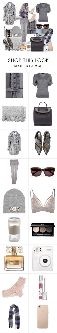 """""""Grey"""" by nathalie-puex ❤ liked on Polyvore featuring Derek Lam, canvas, Alexander McQueen, Warehouse, Paige Denim, Yves Saint Laurent, River Island, LORAC, Edward Bess and Givenchy"""