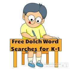Free Dolch Word Searches! Kids will have fun reviewing sight words over the summer.