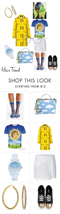 """""""Ramona Flowers"""" by house-of-penelope ❤ liked on Polyvore featuring Out From Under, Mark Cross, Moschino, Lacoste, Jonathan Simkhai and Bling Jewelry"""