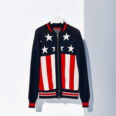 Tommy Hilfiger Cotton Blend Varsity Jacket - mars red/multi - Tommy Hilfiger Bombers - main image