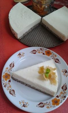 Citrom mousse-os máktorta Mousse, Cheesecake, Dairy, Pudding, Sweet, Desserts, Food, Candy, Tailgate Desserts