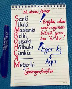 Fotoğraf açıklaması yok. Merida, Learn Turkish Language, Creative Activities For Kids, School Study Tips, Calligraphy Pens, Study Hard, School Notes, School Hacks, Study Notes