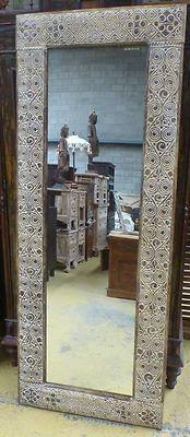 Timor Hand Carved Wood Full Length Mirror Modern Landscape Portrait Tribal
