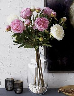 Peony fanciers can defy the short-lived natural season with this perpetual flower stem of blossom and bud.