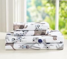 Shop boys' sheets at Pottery Barn Kids in prints that they will love. Find boys' sheets in prints ranging from trucks and car to dinosaurs and more. Puppy Nursery Theme, Dog Nursery, Boy Nursery Themes, Baby Boy Nurseries, Newborn Nursery, Nursery Bedding, Nursery Decor, Dog Bedroom, Bedroom Ideas