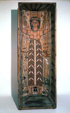 Coffin, wood, Egypt, 100-120, Roman.