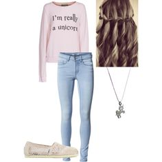 """unicorn outfit"" by missbri2000 on Polyvore"