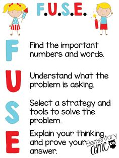 Strategy to use for math problem solving