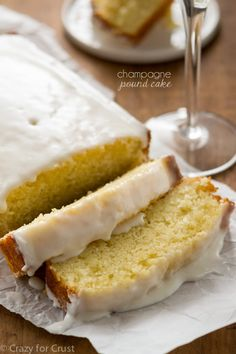 A single loaf of Champagne Pound Cake is perfect for any celebration! Triple the champagne flavor in the cake, glaze, and frosting!