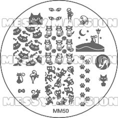 Nail Art Stamping Image Plate Cats Themed by MessyMansion Nail Art Stamping Plates, Nail Plate, Stamping Tools, Image Plate, Cat Nails, Cool Nail Designs, Nail Arts, Cats And Kittens, Kids Rugs