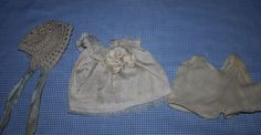 Silk Dress and Hat for Small Bisque or Composition Dolls Early 1920s