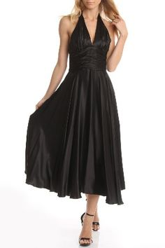 Halter Style Black Dress.