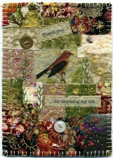 Baumcat: Crazy Quilt Art - would LOVE to make something like this for my journal!: