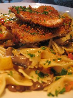 Louisiana Chicken Pasta. Sauce had amazing, authentic cajun flavor bc I used cajun seasoning and cayenne pepper instead of sea salt and black pepper. When cooking chicken, season milk and bread crumbs. I browned the chicken on stove and finished in oven. Crust will crumble off if you mix eggs with milk. Can add andouille sausage to pasta.