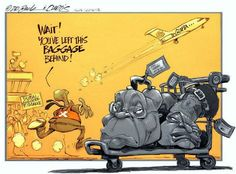 The Guptas' left baggage Political Satire, Political Cartoons, Jacob Zuma, Lost & Found, Baggage, Minions, Politics, African, Movie Posters