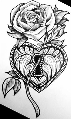 Dope Tattoos, Skull Tattoos, Body Art Tattoos, New Tattoos, Sleeve Tattoos, Tatoos, Rose Drawing Tattoo, Tattoo Design Drawings, Pencil Art Drawings