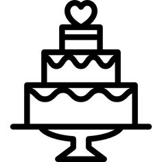 Wedding Cake free vector icons designed by Freepik Cute Food Drawings, Mini Drawings, Cute Little Drawings, Art Drawings For Kids, Pencil Art Drawings, Simple Doodles, Cute Doodles, Wedding Icon, Free Wedding