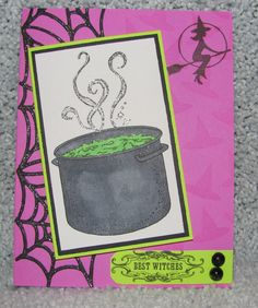 I just listed Best Witches Purple Cauldron Halloween A2 handmade greeting card on The CraftStar @TheCraftStar #uniquegifts
