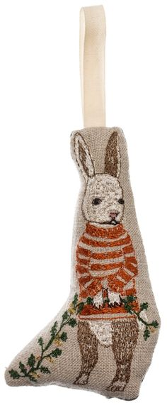 coral+&+tusk | Coral and Tusk Bunny in a Sweater Ornament