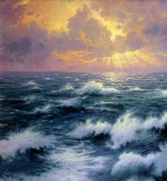 Thomas Kinkade Ocean Paintings | ... 18x27 G/P Framed Limited Thomas Kinkade Sailing Canvas Paintings Ocean Paintings, Canvas Paintings, Thomas Kinkade Art, Thomas Kincaid, Kinkade Paintings, Art Thomas, Sky And Clouds, Painting Inspiration, Impressionism