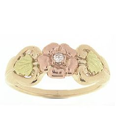 Shop for Black Hills Gold Flower and Diamond Ring. Get free delivery On EVERYTHING* Overstock - Your Online Jewelry Shop! Unique Jewelry, Vintage Jewelry, Luxury Jewelry, Wedding Black, Gold Wedding, Wedding Rings, Black Hills Gold Jewelry, Thumb Rings, Gold Flowers