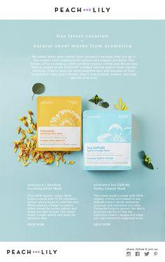 New from Aromatica: 100% Organic Cotton Sheet Masks