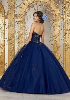 c0d947b5d71 Mori Lee Quinceanera Dress 89224. Colors  Navy.  quinceaneradress   quinceaneracollection  misquinces