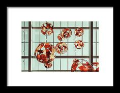 Colored Glass Balloons On Ceiling Framed Print